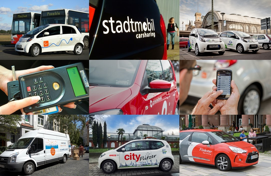 Was ist CarSharing? Fotos: cambio, stadtmobil, teilAuto, greenwheels, book-n-drive, Flinkster