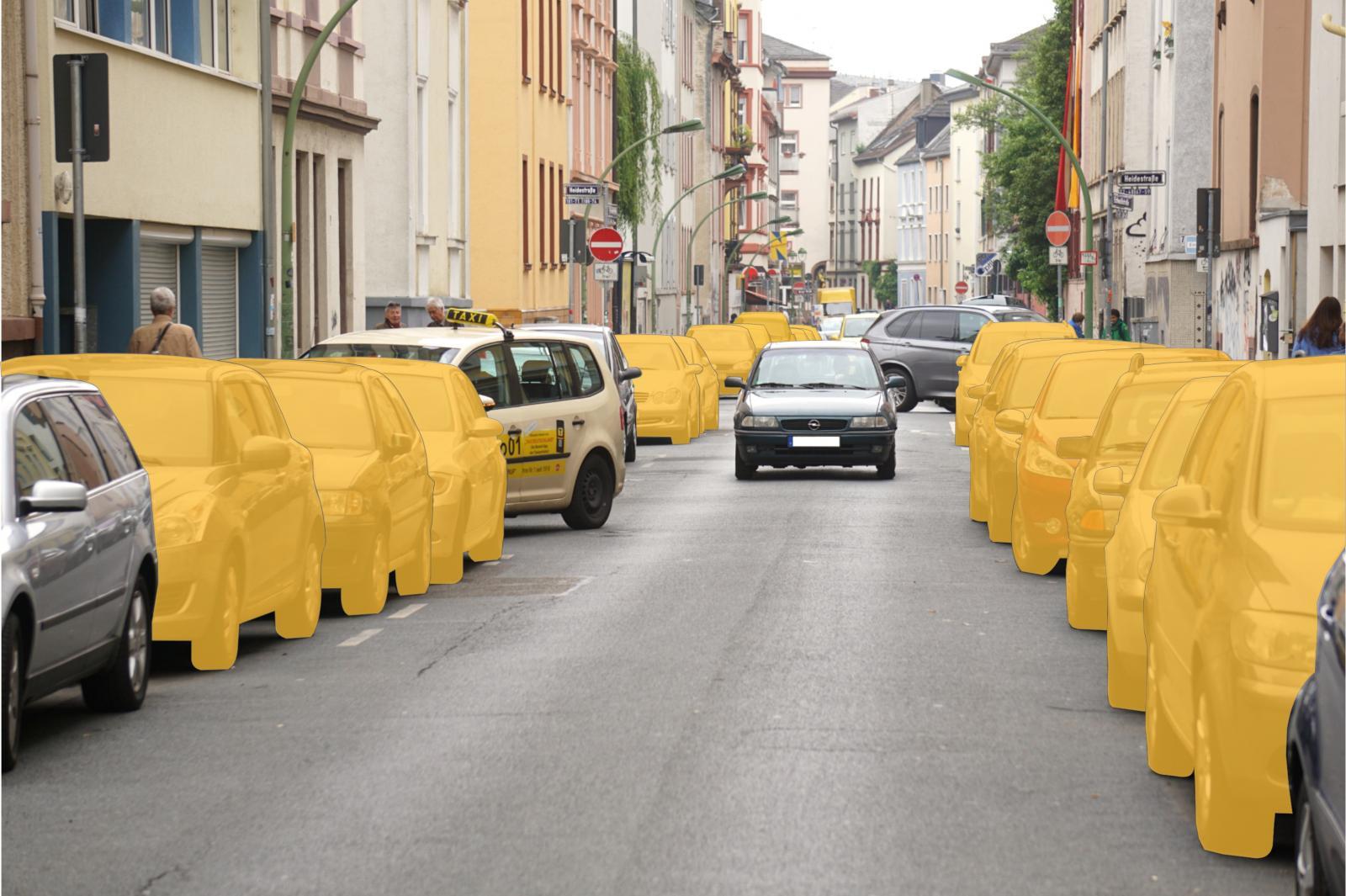 Ein CarSharing-Fahrzeug ersetzt bis zu 20 private Pkw - und macht so bis zu 19 Parkplätze frei (Foto: bcs)