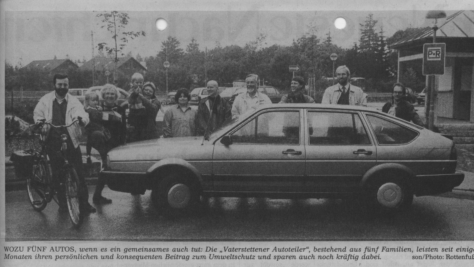 Die Vaterstettener Auto-Teiler im Jahr 1992
